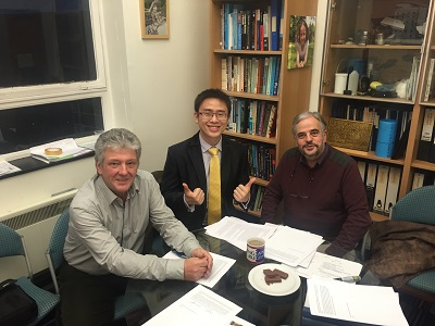 Menglong with Prof Jerrams and Prof. Foot after his viva.