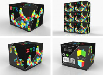 The packaging design for Klayton's 'XYA, a new construction set for any age'