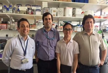 Team of inventors (from left - Make Cattell, Saroash Shahid, Dong Luo and Gleb Sukhorukov)