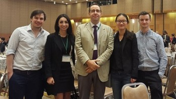 Members of the Soft Matter Group at the IRC 2016. Richard and Francesca are left and 2nd left.