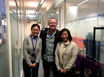 Yaqiong (left) with her examiners: Prof. Chris Bowen (University of Bath) and Prof. Wenhui Song (University College London)