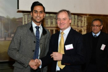 Shyam Patel was the winner of the ApaTech prize for the best research project