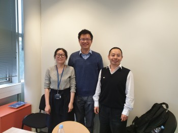 Yanhong Wang with her PhD examiners Dr. Junning Chen (University of Exeter) and Dr. Haixue Yan (Queen Mary University of London) after the viva.
