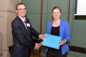 Martyn Bennett preseting Sidsel with her prize
