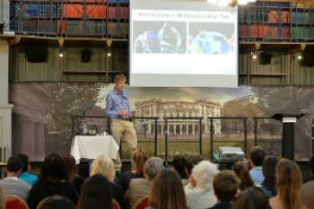 Prof Martin Knight speaks at the Barts and Queen Mary Science Festival on 9th July 2014.