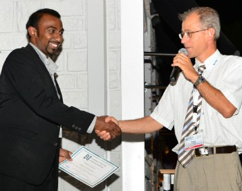Dr Angelo Karunaratne was awarded Best Doctoral Thesis in Biomechanics at ESB2013