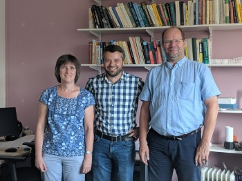 Professors Steffi Krause,  Julien Gautrot and Henri Huijberts.
