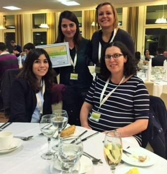 Pelin and the rest of the wining team after the award was presented at conference the gala dinner.