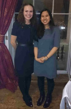 Congratulations to Kseniya Shuturminska (l) and Samantha A. Gabriel (r) who were finalists for awards at the Institute of Materials, Minerals and Mining annual dinner .
