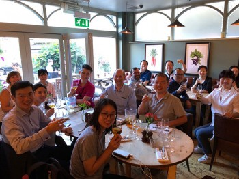 A welcome dinner was hosted by Vice-Principal for Science and Engineering, Professor Wen Wang