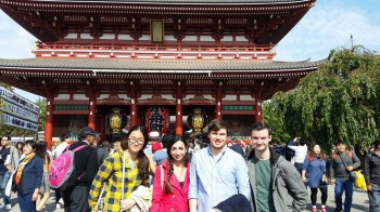 Richard attending IRC2016 in Japan (2nd on the right) with Yinping, Francesca and Barnabas