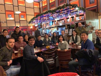Yi (front row second from the right) with many members of the polymer and composite research group after her successful thesis defence.