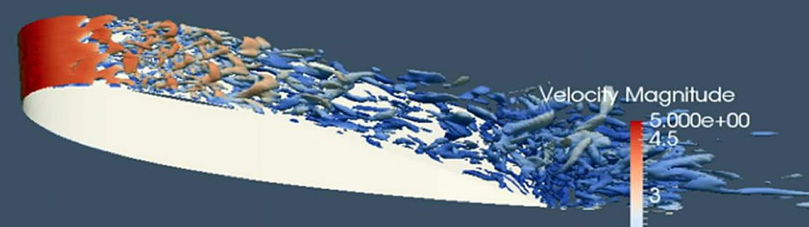 LES simulation of flow past NACA 0018 airfoil