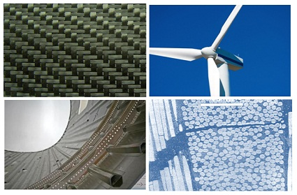 Multifunctional carbon fibre composites are developed with integrated damage sensing capability for applications in aircraft structures and wind turbine blades.